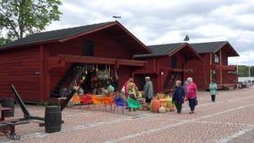 在洛维萨旧港口的多云6月天  芬兰 股票录像