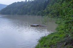 在洪水期间的湖 图库摄影