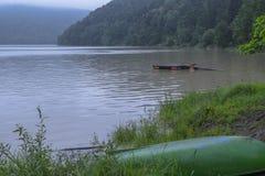 在洪水期间的湖 免版税图库摄影