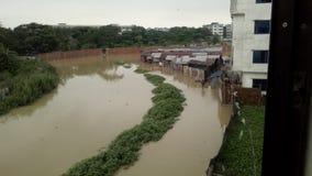 在洪水期间 免版税库存照片