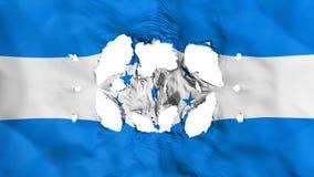 在洪都拉斯旗子的孔 皇族释放例证