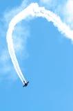 在活动的飞机 免版税库存图片