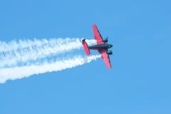 在活动的飞机 免版税库存照片