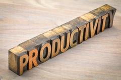 在活版木头类型的生产力词 图库摄影