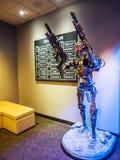 在派拉蒙电影公司好莱坞游览的终止者雕象2017年8月14日, -洛杉矶, LA,加利福尼亚,加州 库存照片