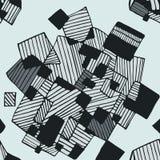 在浅兰和深灰颜色的无缝的抽象几何样式 图库摄影