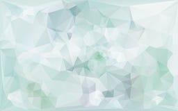 在浅兰的口气的抽象poligonal背景 皇族释放例证