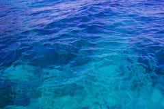 在浅海洋的水反射 免版税图库摄影