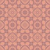 在浅粉红色的百合花束无缝的样式背景 库存例证
