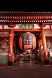 在浅草Senso籍寺庙的Kaminarimon门在东京,日本 免版税库存照片