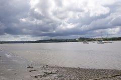 在测流堰码头附近的河它玛 库存图片