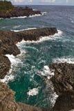 在济州海岛的Jungmun Josangjeolli峭壁 免版税库存图片