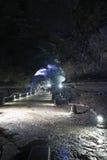 在济州海岛,韩国上的熔岩管 免版税库存图片