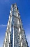 在浦东,上海,中国的著名金茂塔 库存照片