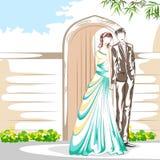 在浪漫心情的美好的夫妇 图库摄影
