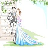 在浪漫心情的美好的夫妇 库存图片