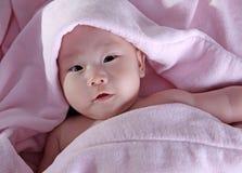 在浴以后的婴孩 免版税库存图片