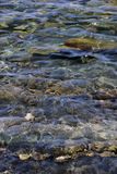 在海下的岩石在海 库存图片
