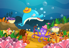 在海下的海洋生物 皇族释放例证