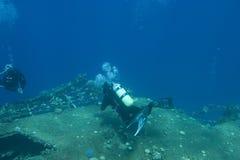在海中废墟 免版税库存图片