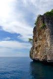 在海中的一块岩石石头 免版税图库摄影