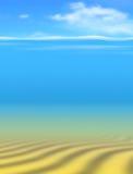 在海中 免版税图库摄影