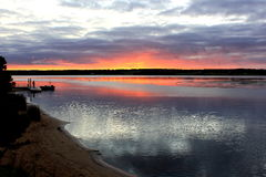 在海入口的日出 图库摄影
