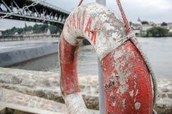 在海军陆战队员的Lifebuoy 免版税图库摄影