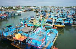 在海口的渔船船锚 免版税库存图片