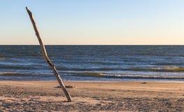 在海和杆的看法 免版税库存图片