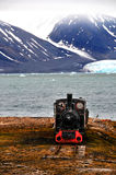 在海岛上的一列老火车 免版税库存照片