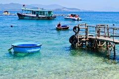 在海岛上的一平安的天 免版税库存照片