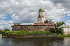在海岛上的城堡 免版税库存照片