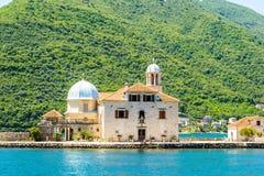 在海岛上的大教堂 库存图片