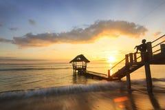 在海岛上的完善的夏天 库存图片
