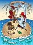 在海岛上的海盗 库存图片