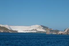 在海岛上的矿 库存图片