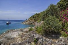 在海岛上的观点 库存照片
