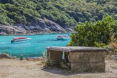 在海岛上的观点 库存图片