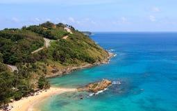 在海岛上的路 图库摄影