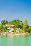 在海岛上的Builing 免版税库存图片