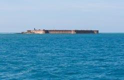 在海岛上面的一个堡垒 免版税库存照片