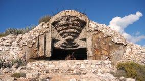 在海岛力的南侧的老军事地堡 影视素材