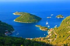 在海岛姆列特岛上的Prozurska luka在克罗地亚 库存图片