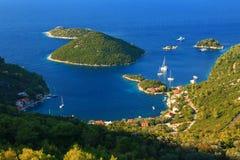 在海岛姆列特岛上的Prozurska luka在克罗地亚 免版税库存图片