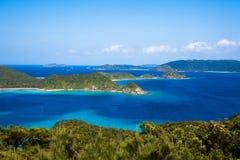 在海岛日本南部之上 免版税库存照片