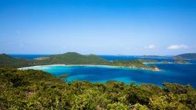 在海岛日本南部之上 免版税图库摄影