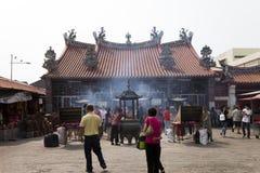 在海岛槟榔岛,马来西亚,亚洲上的一个寺庙 库存照片