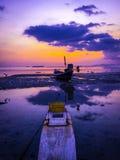 在海岛的日落 库存图片