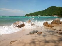 在海岛的看法 库存照片